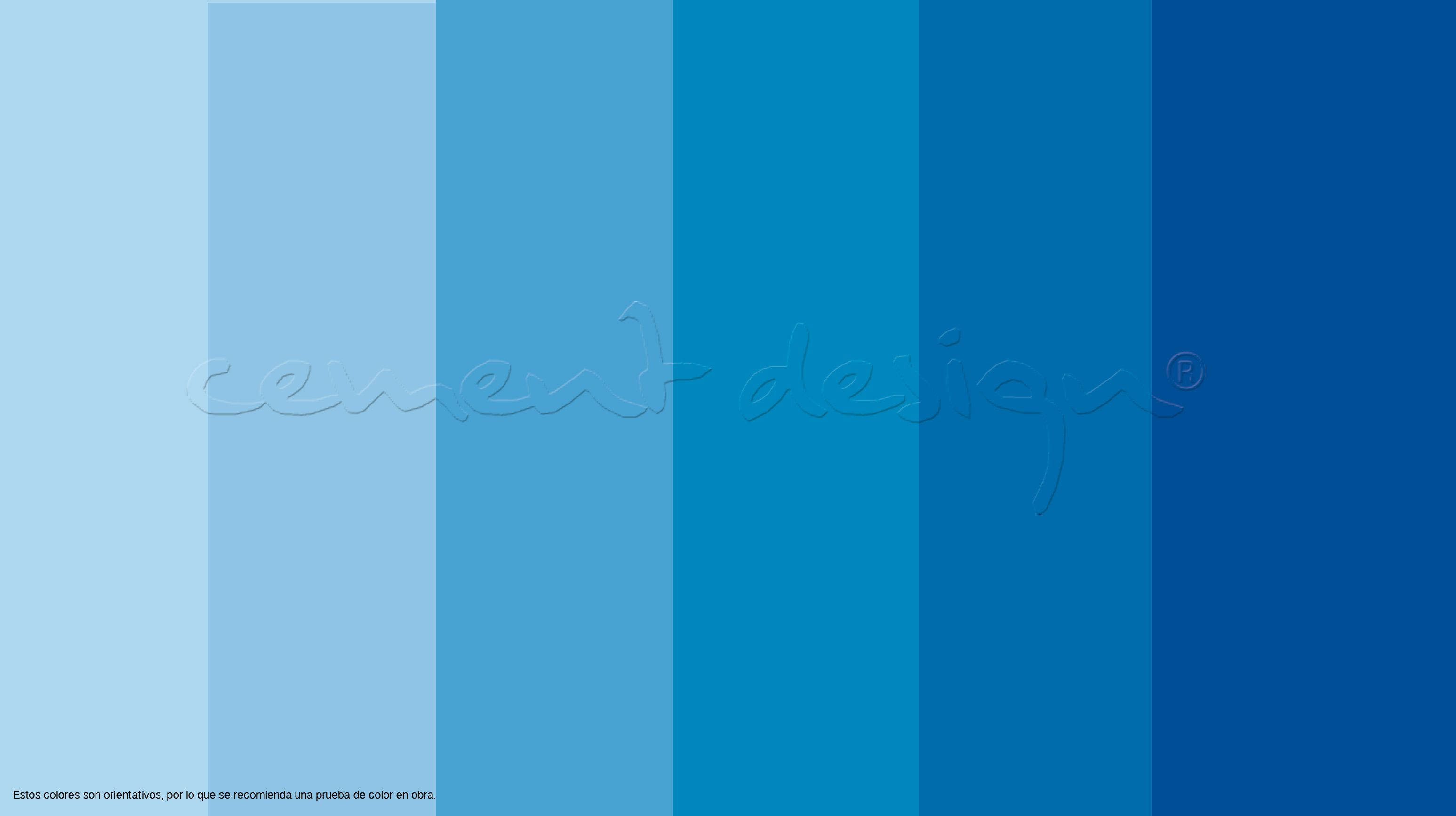Azul roto / Blended blue, Azul suave / Light blue, Azul dulce ...