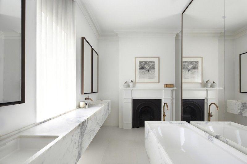 El mármol, protagonista en el cuarto de baño | Cuarto de baño ...