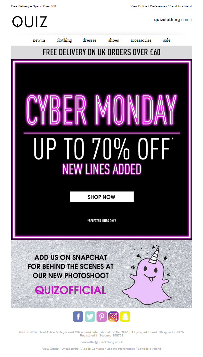Quiz Cyber Monday Email Emailmarketing Email Marketing Cybermonday Cyber Monday Fashion Discou Email Design Inspiration Cyber Monday Email Cyber Monday