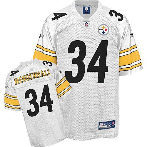 Reebok Pittsburgh Steelers Rashard Mendenhall 34 White Authentic Jerseys  Sale 57a2e224e