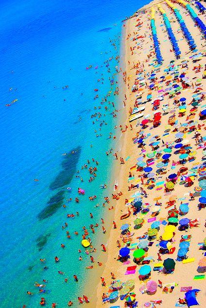 Beach Umbrellas I Love All The Fun Colors South Beach