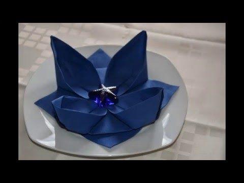 Lilie Lotusblute Blume Falten Hochzeitsdeko Tischdeko