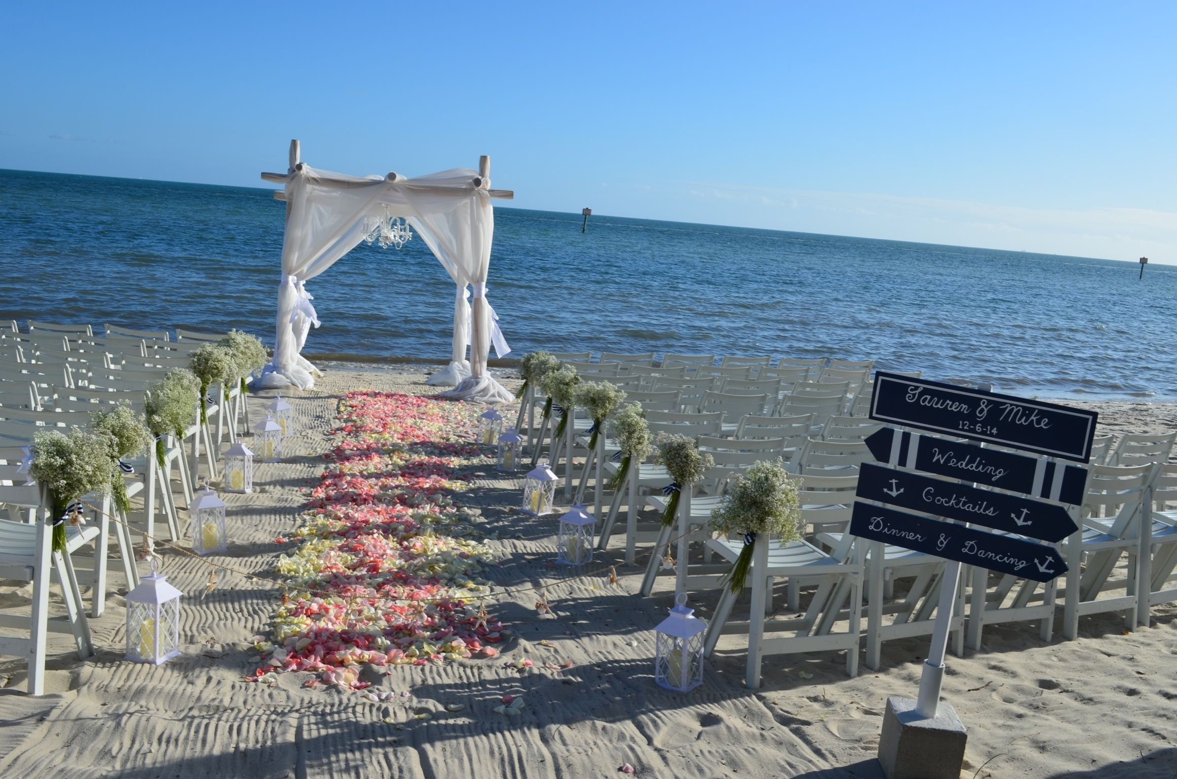 Very Cute Beach Wedding Ceremony On Smathers In Key West Florida Arch By Say Yes And Sheraton Suites