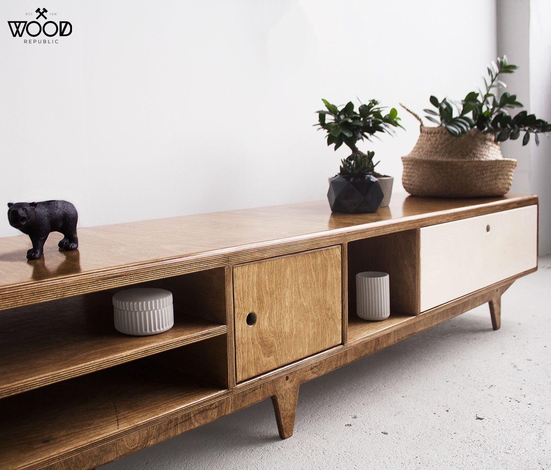 Take a closer look at our work! #handmadefurniture #woodrepublic #tvcabinet #Plywooddesign #polishdesign #nordicstyle #danishstyle