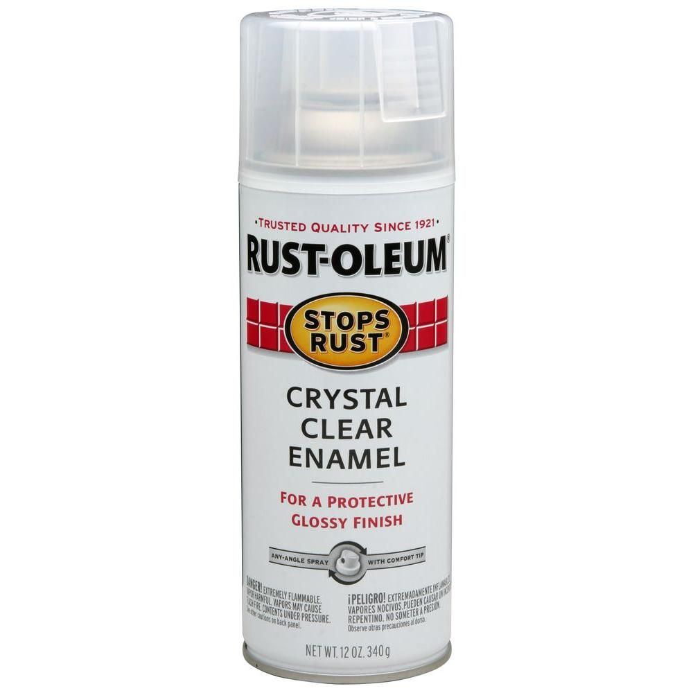 Rust Oleum Stops Rust 12 Oz Protective Enamel Gloss Crystal Clear Spray Paint 3 Pack 7701830 Products Enamel Spray Paint Gloss Spray Paint Spray Paint