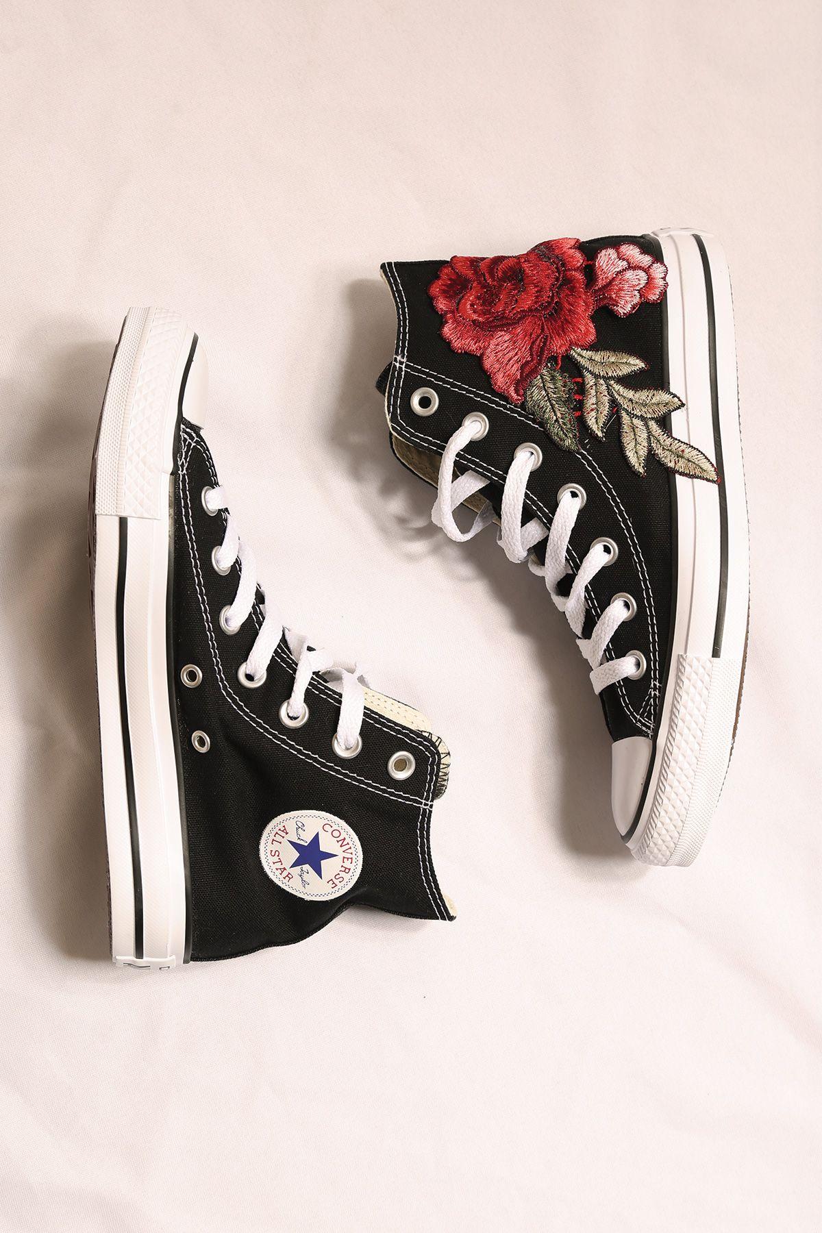 custom converse black