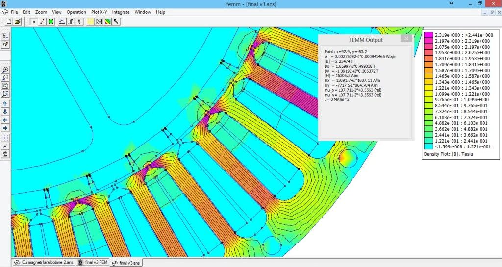 FEMM motor simulation | Motor brushless | Pinterest