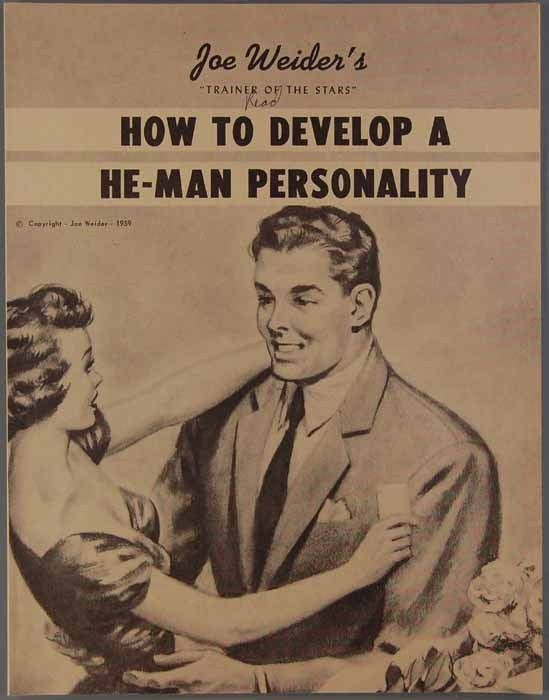 Book cover for Joe Weider's How to Develop a He-Man Personality, 1959