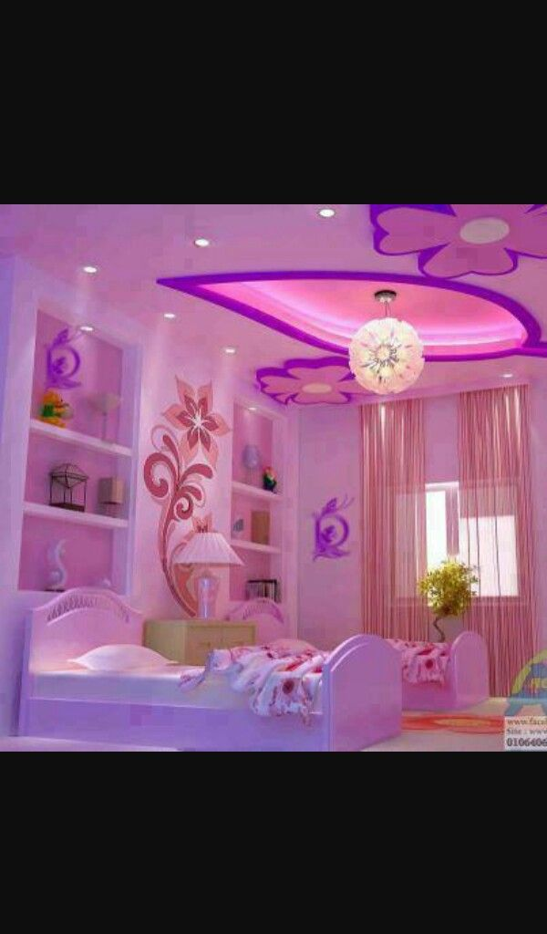 Pink N Purple Girls Room