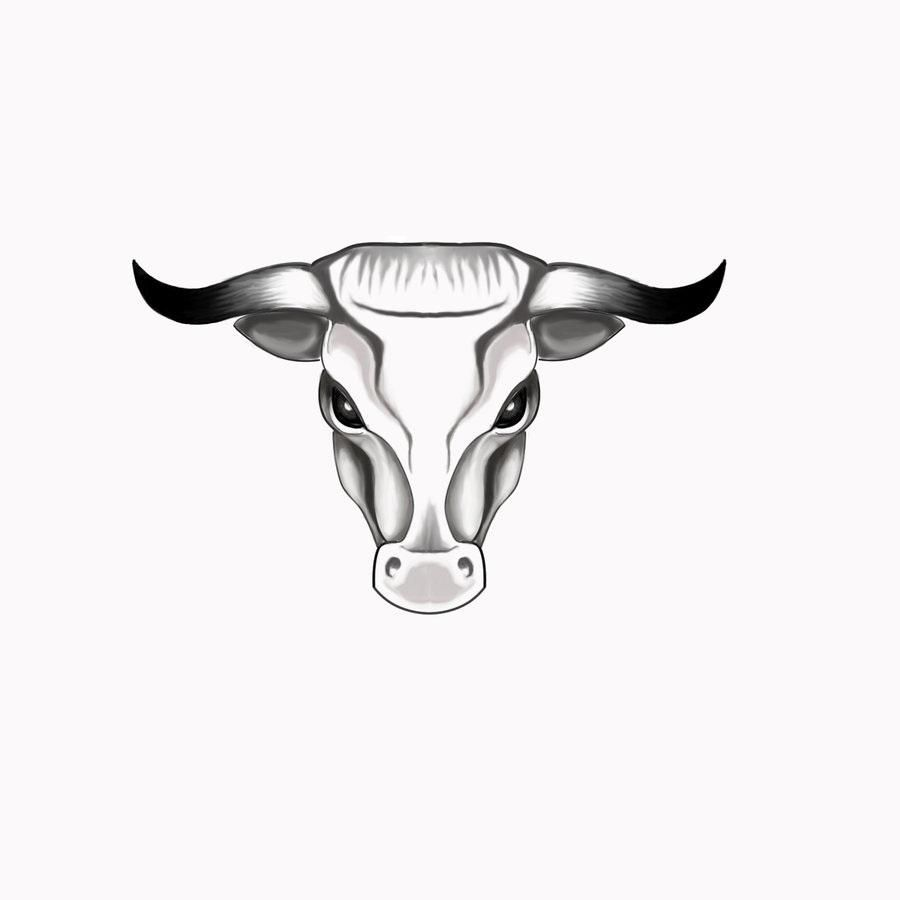Pics photos taurus tattoos bull tattoo art - Nice Grey Ink Taurus Head Tattoo Design Taurus Tattoosbull