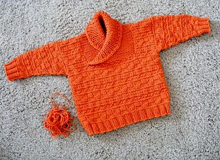 Photo of busy baby boy sweater & hat pattern by Lorna Miser