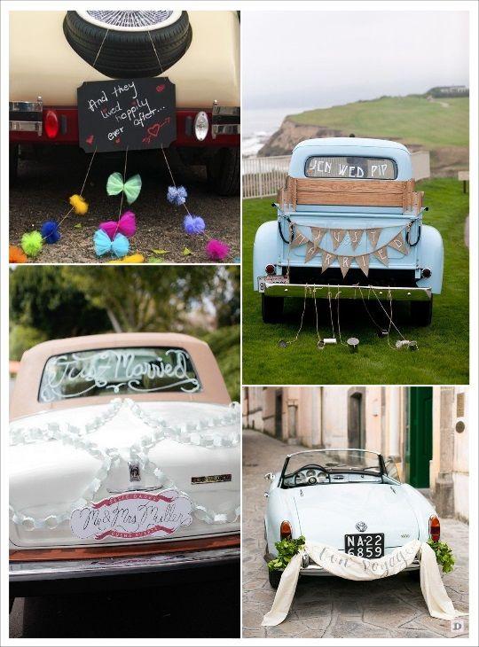 Favori decoration voiture mariage pancarte ardoise banderole   cortège  JS97