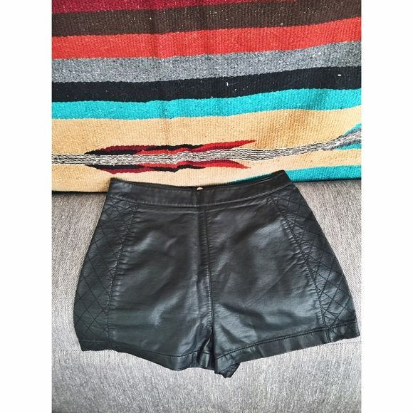 Forever 21 leather shorts Only worn a couple times. In great condition Forever 21 Shorts