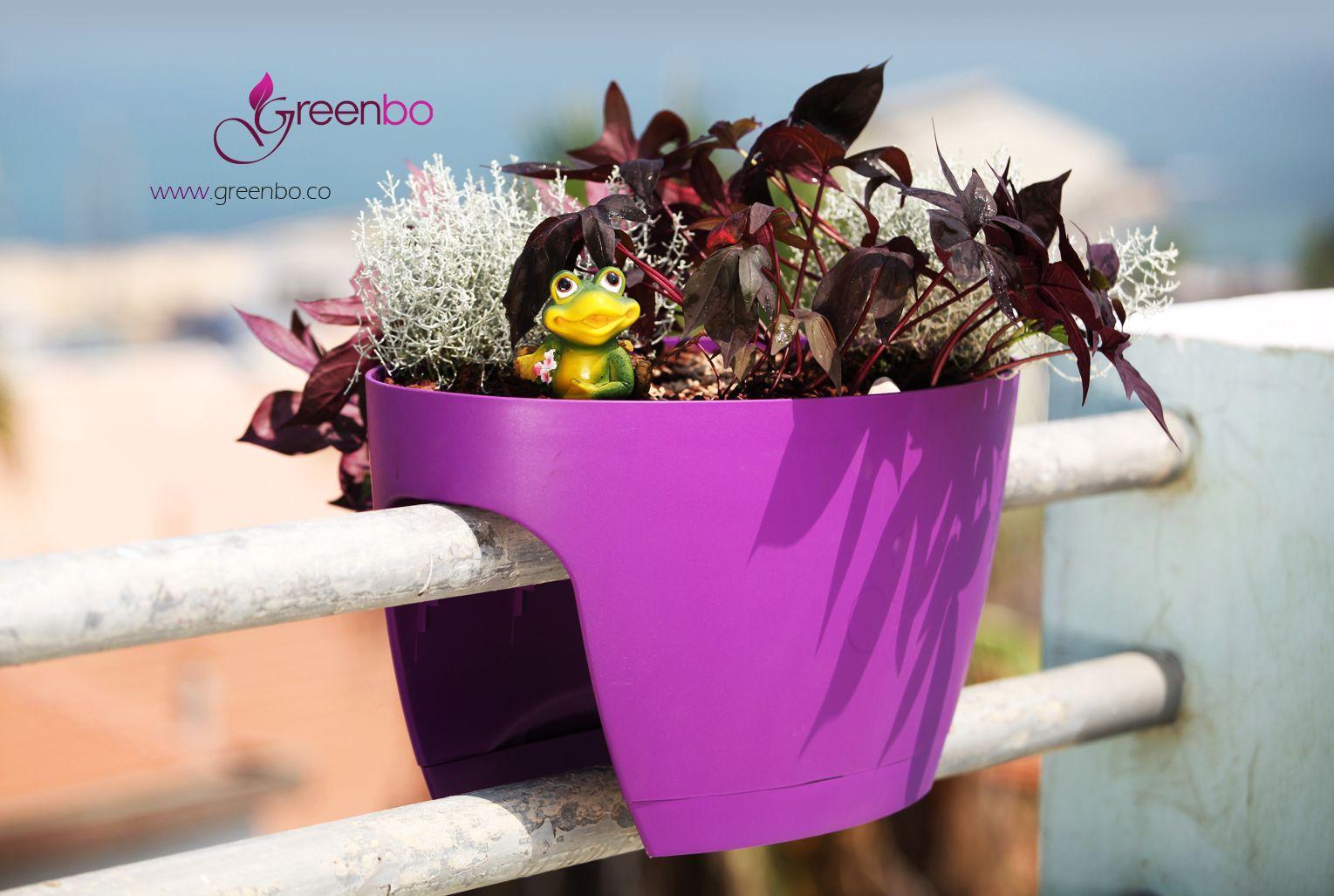 Greenbo Xl Railing Flower Box Creates Your Nature Design Harmony