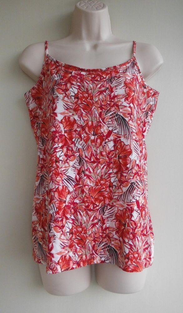 5ec9ec24962c9d ANN TAYLOR LOFT Top Blouse Size Large Floral Birds Red Pink White 95%  Cotton  AnnTaylorLOFT  Blouse