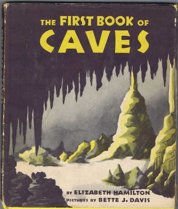 Antique Vintage First Book of Caves 1956 by chemindesmuguets