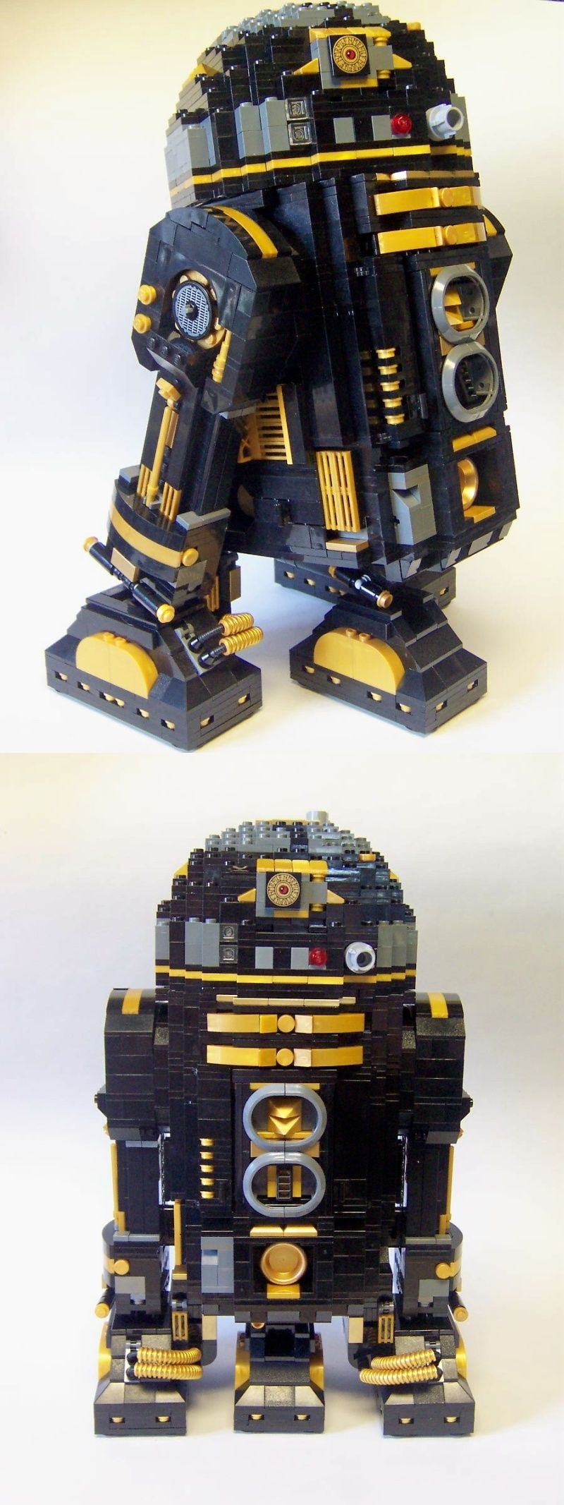 LEGO Star Wars R2-Pi, Death Star astrodroid. Inifinitly cool! I took the directions from kit 10225 and picked through my Lego collection to create this for Legoland Star Wars Days. #LEGO #StarWars