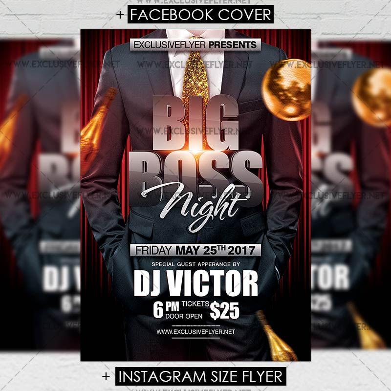 Big Boss Night Premium A5 Flyer Template Httpswww