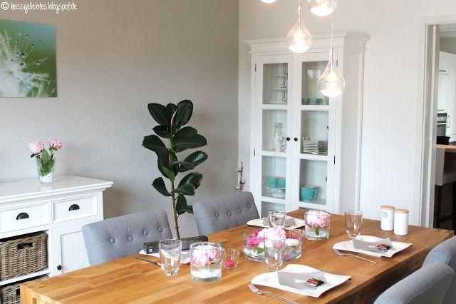 Flower Power - Blumige Tischdekoration Esszimmer Diningroom Interior wohnen