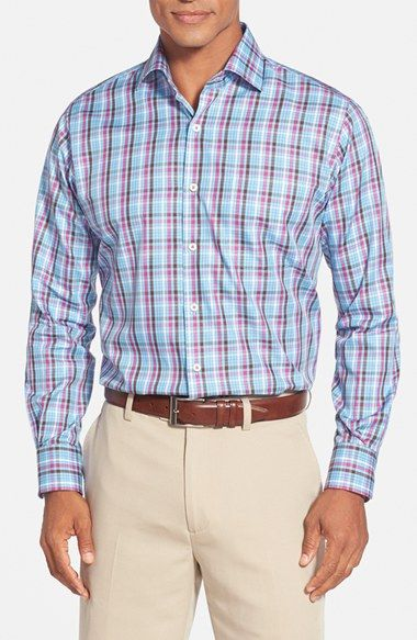 Peter Millar 'Bridgeport' Regular Fit Plaid Sport Shirt