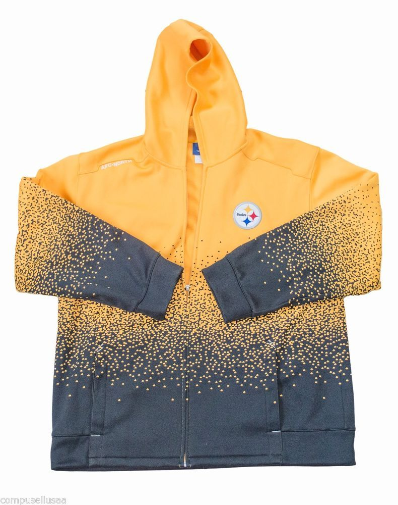 brand new aa816 98a34 buyitnow #ebay Pittsburgh Steelers Hoodie Zip Front Reebok ...