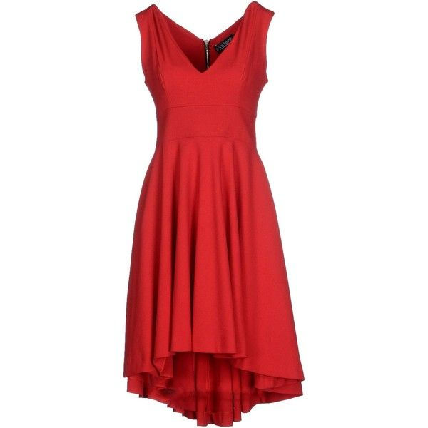 Nora Barth Short Dress (410 BRL) ❤ liked on Polyvore featuring dresses, red, zipper mini dress, red dress, short red dress, mini dress and no sleeve dress