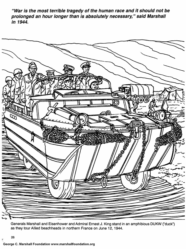 Ww2 Army Coloring Pages 007