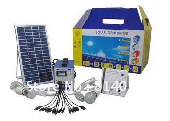 Free Shipping Wholesale Portable Solar Kits Generator for Rural Area Home Electrical Appliances Indoor Lighting Kits-in Solar Energy Systems from Electrical Equipment & Supplies on Aliexpress.com