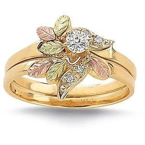 Black Hills Gold Wedding Set Black Hills Gold Black Gold Jewelry Black Hills Gold Et Gold Wedding Rings