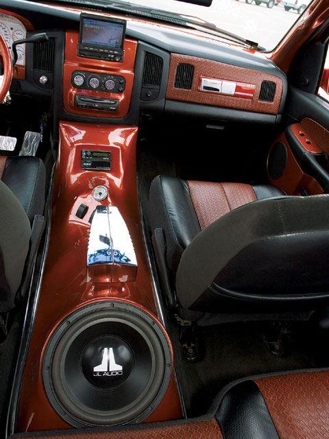 Dodge Ram 250 Custom Custom Car Interior Custom Muscle Cars Custom Center Console