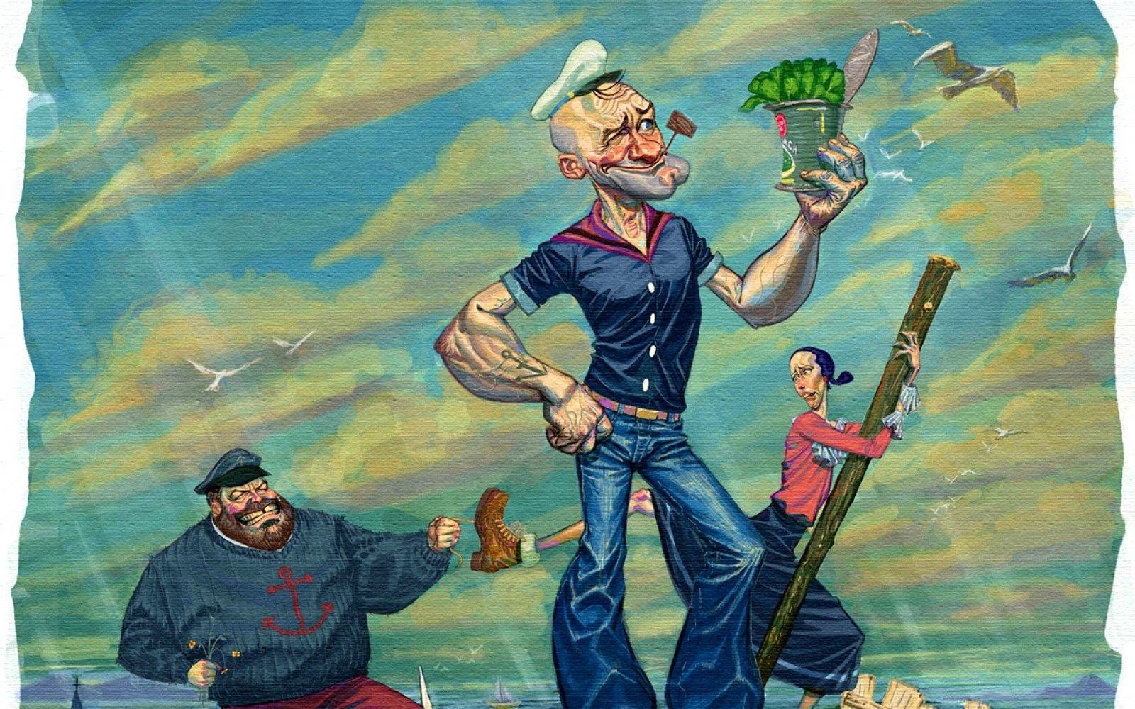 Смешные картинки моряк папай, днем пограничника