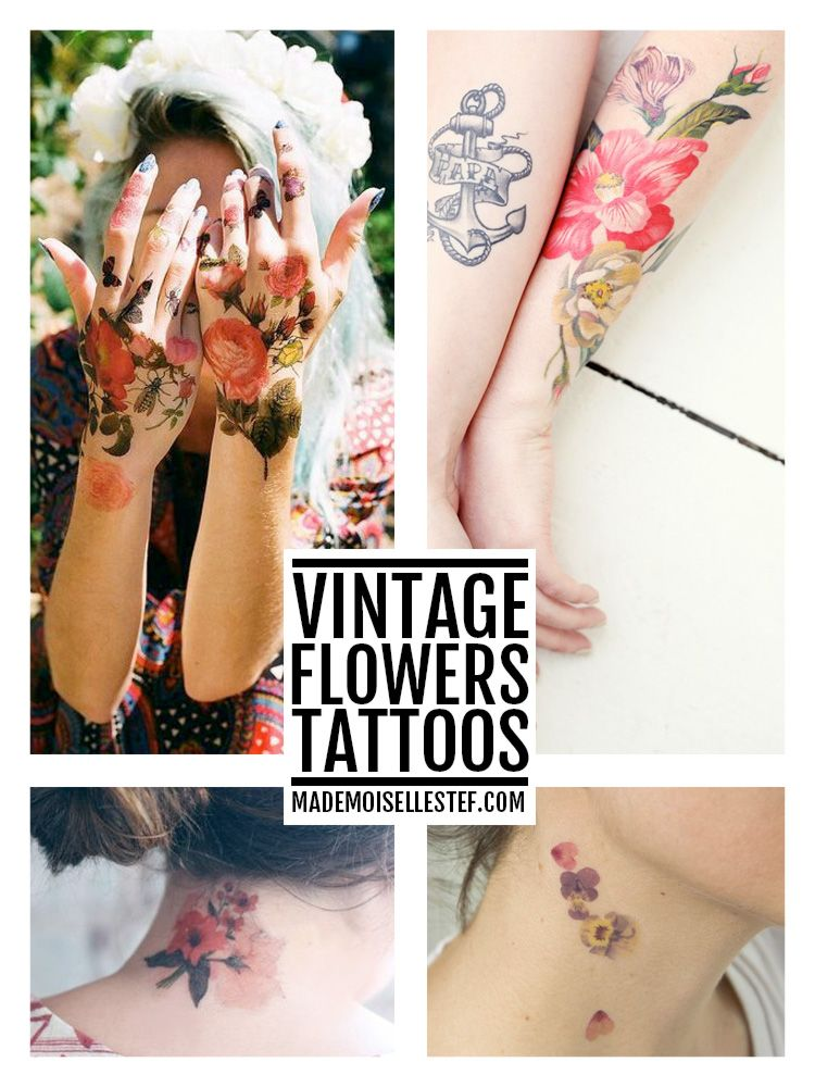 Tattoo Ideas 31 Vintage Flowers I Tatoo Tatouage Tatouage