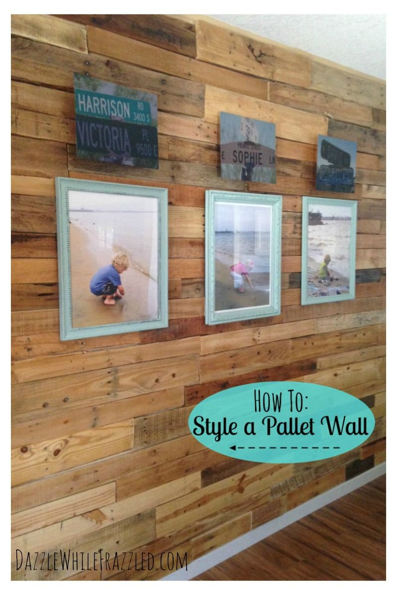 How to decorate a wood pallet wall with a photo display simple create a simple gallery wall to showcase your pallet wall via how to decorate a jeuxipadfo Image collections