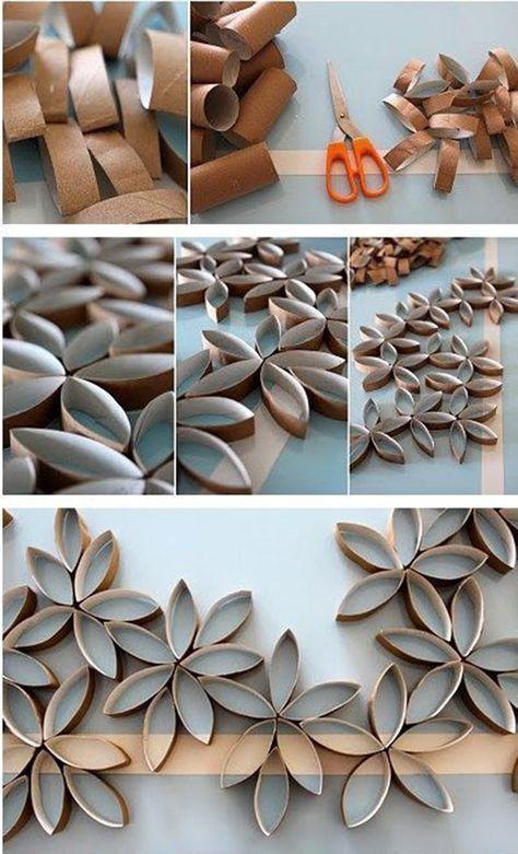 10 Diy Home Decorating Ideas On A Budget Artesanato Com Rolo De Papel Diy Para A Casa Ideias De Artesanato Para Casa