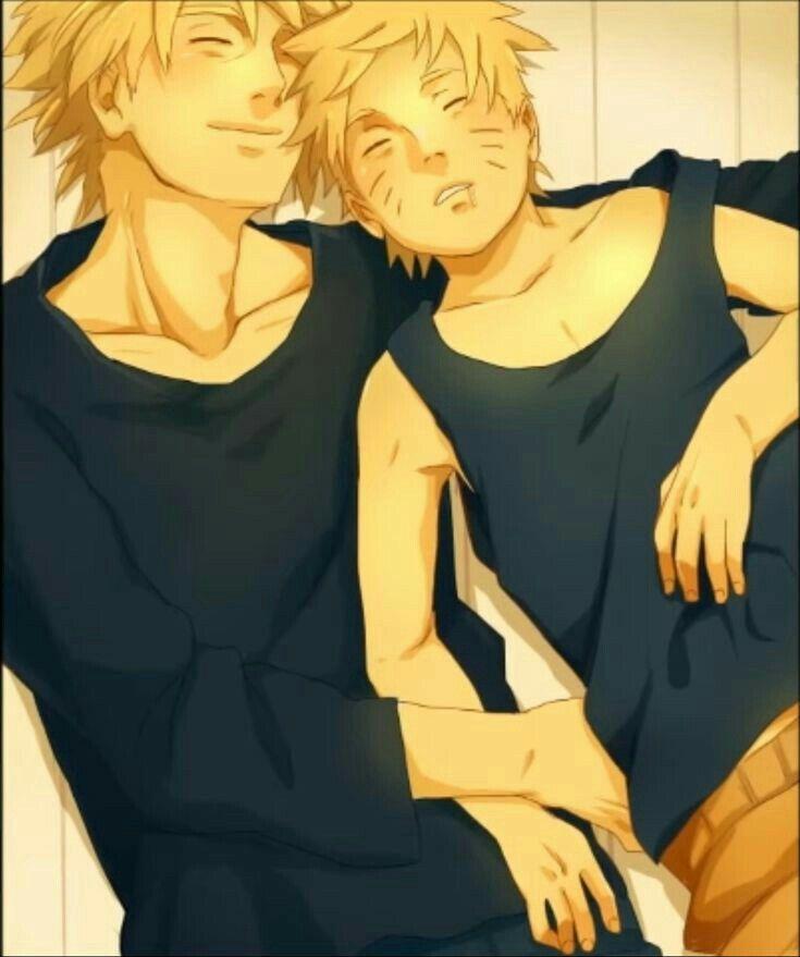 Sasuke Wakes Up By Uendy On Deviantart: Minato X Naruto Sleeping