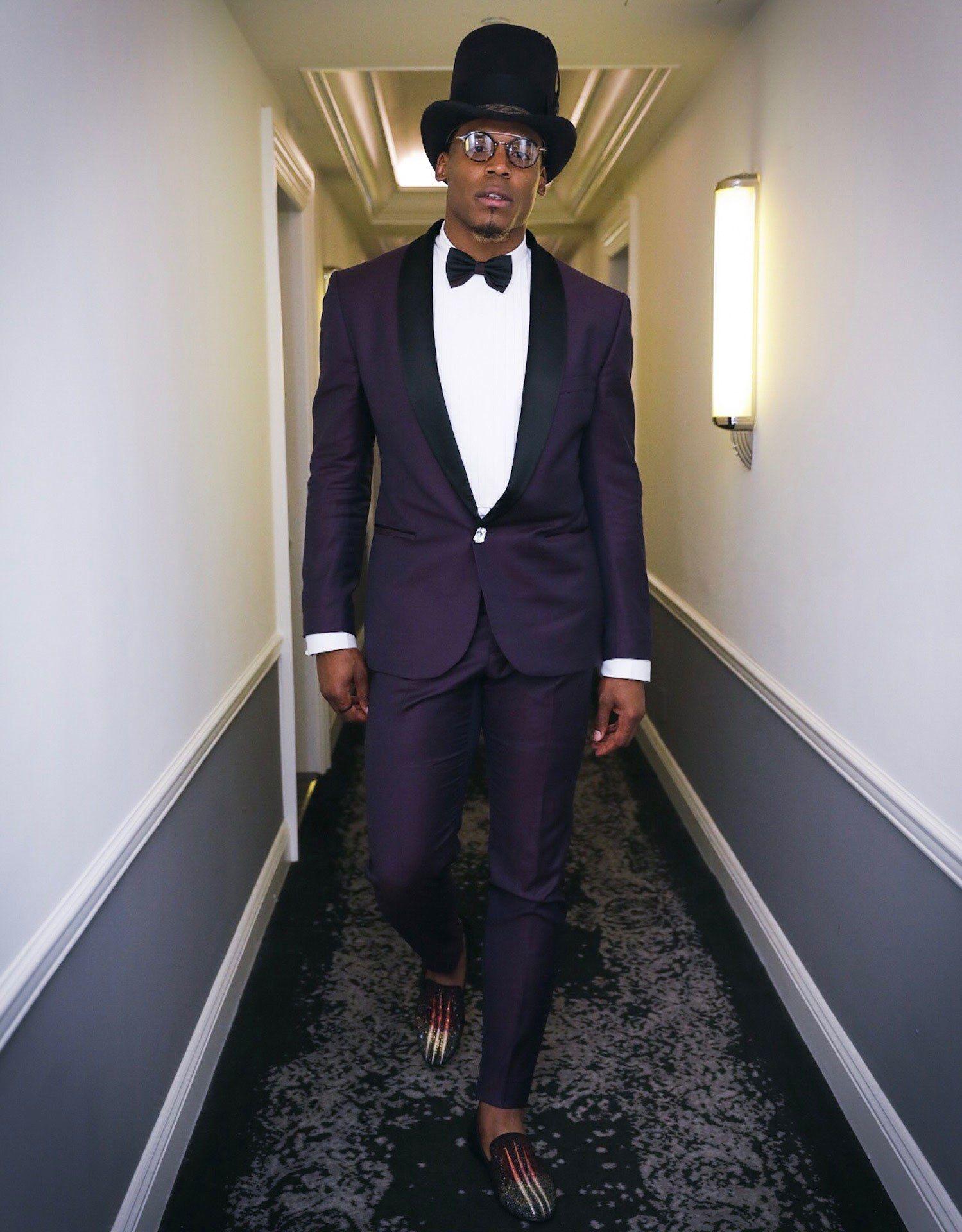 Cam Newton At The Met Gala 2017 In Versace
