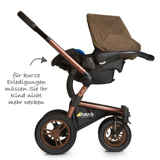 hauck kinderwagen set king air plus trio set melange chocolate kinderwagen pinterest. Black Bedroom Furniture Sets. Home Design Ideas