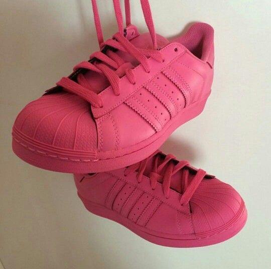 superstar adidas rosas