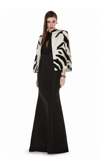 EDEN DIODATI – FALL WINTER 2015 – PREORDER HERE: http://www.precouture.com/en/6611-ewaria-zebra-printed-cape-atala-gown PRECOUTURE.COM is the first European website offering the possibility to preorder the looks straight from the runway. Order your looks now and wear them before anyone else, before it hits stores !