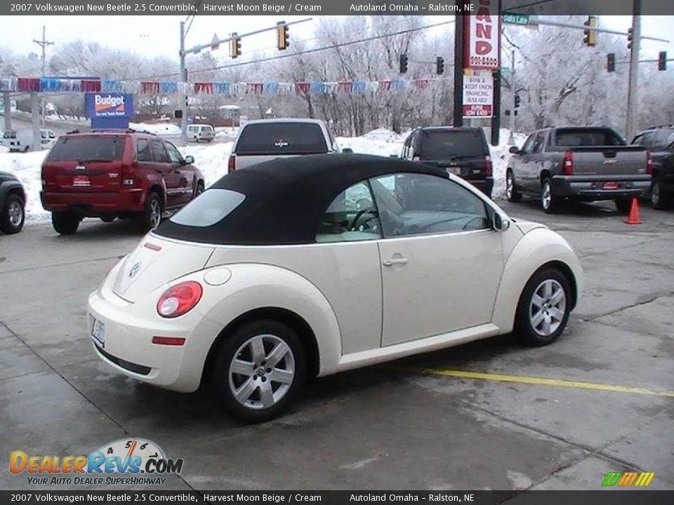 2007 Volkswagen Beetle Convertible New 2 5 Harvest Moon Beige Cream
