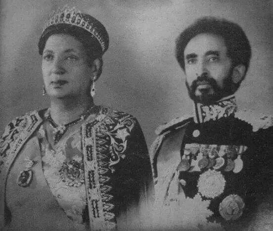 Emperor Haile Selassie & Queen Menen