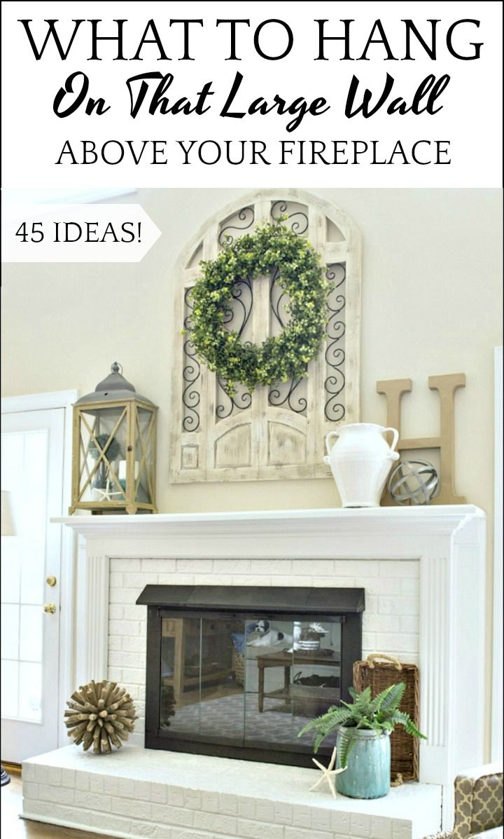How To Decorate Above A Fireplace In A Two Story Room Brick