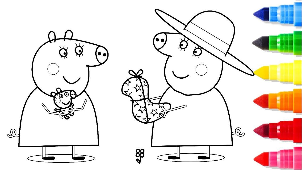 Peppa Pig Mummy Coloring Pages From The Thousand Images On The Net