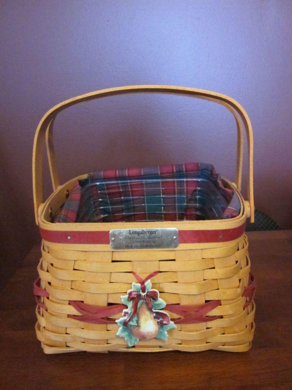 Longaberger Christmas Basket.Longaberger Christmas Collection 2000 Deck The Halls Basket
