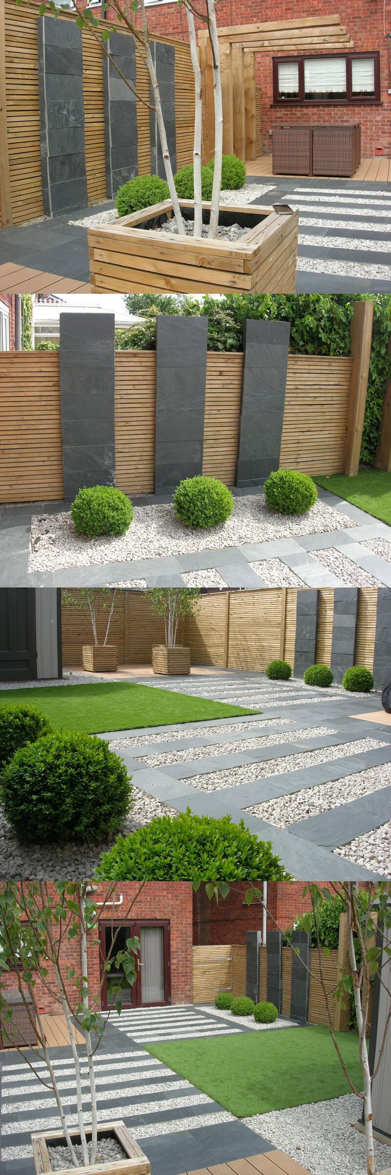 Chic modern garden design in chelsea by declan buckley with steps and - Black Slate Flagstones Modern Patio Landscaping Garden Design Mjm Landscapes