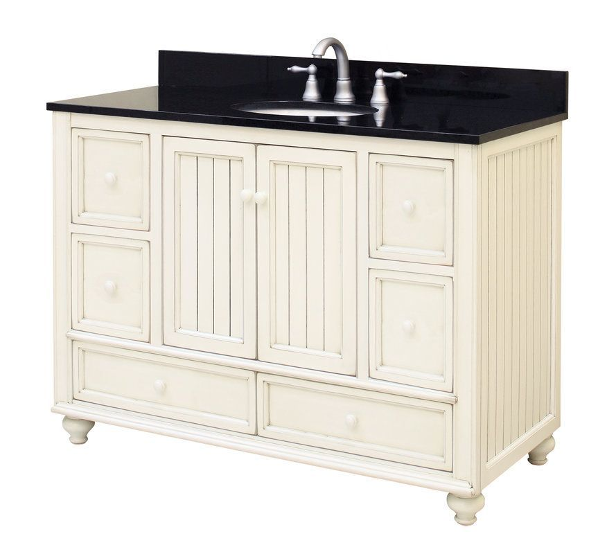 View The Sunny Wood Bb4821d Bristol Beach 48 Wood Vanity Cabinet Only At Faucetdirect Com Wood Vanity Vanity