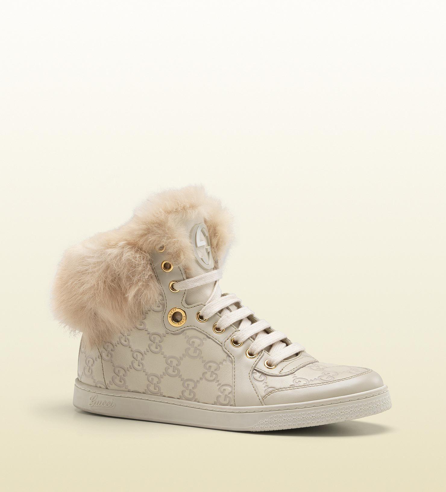Gucci baskets montantes coda double g avec bordure - Bordure fur babyzimmer ...