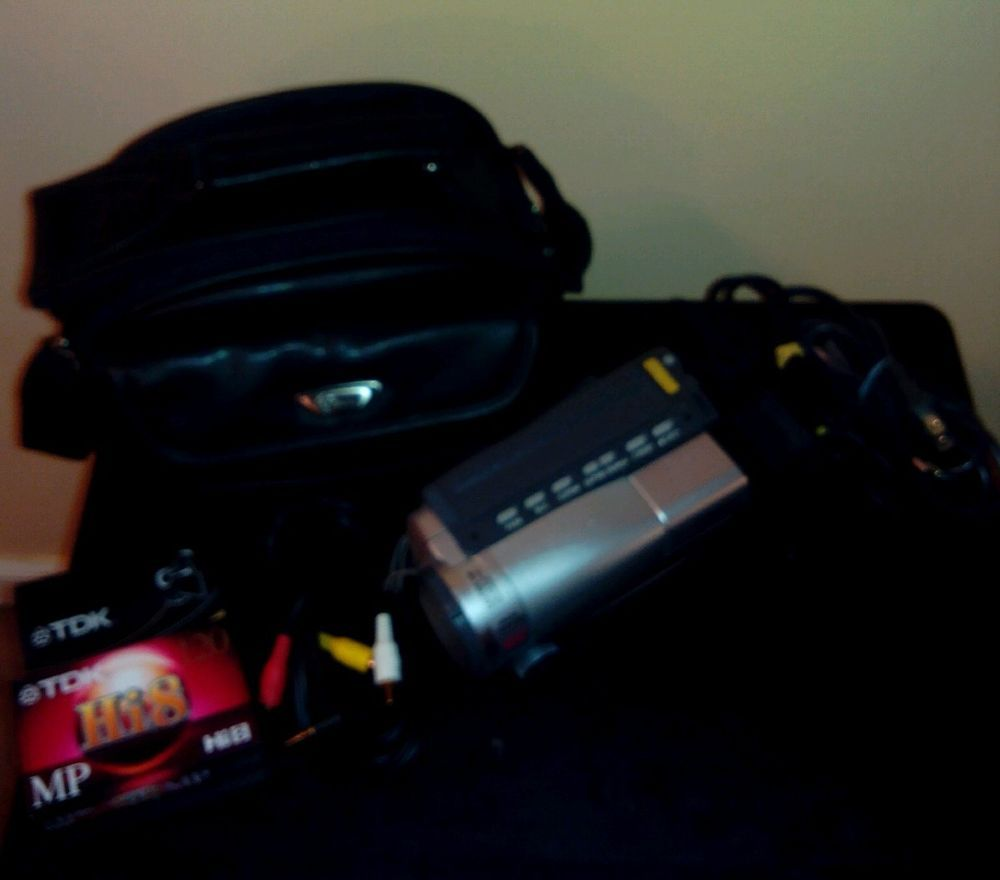 canon ES8600 8mm video camcorder kit HI8 tape camra 22x/800x