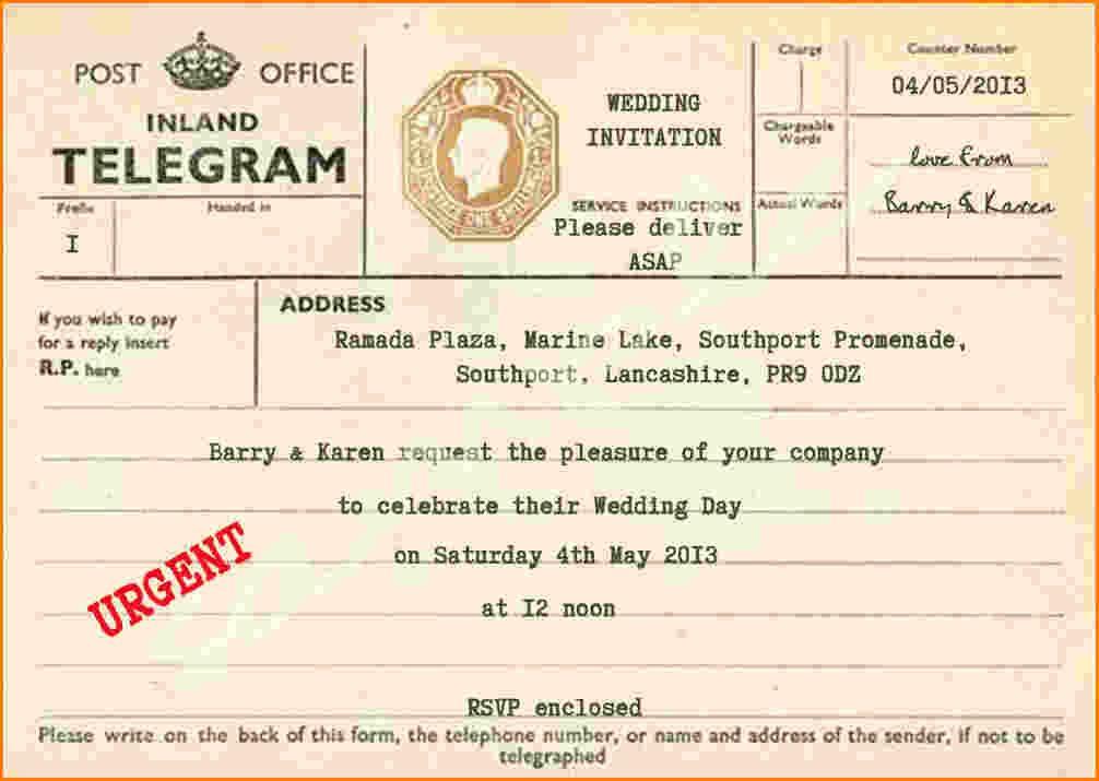 8+ telegram template microsoft word | Ledger Review | Harry potter ...