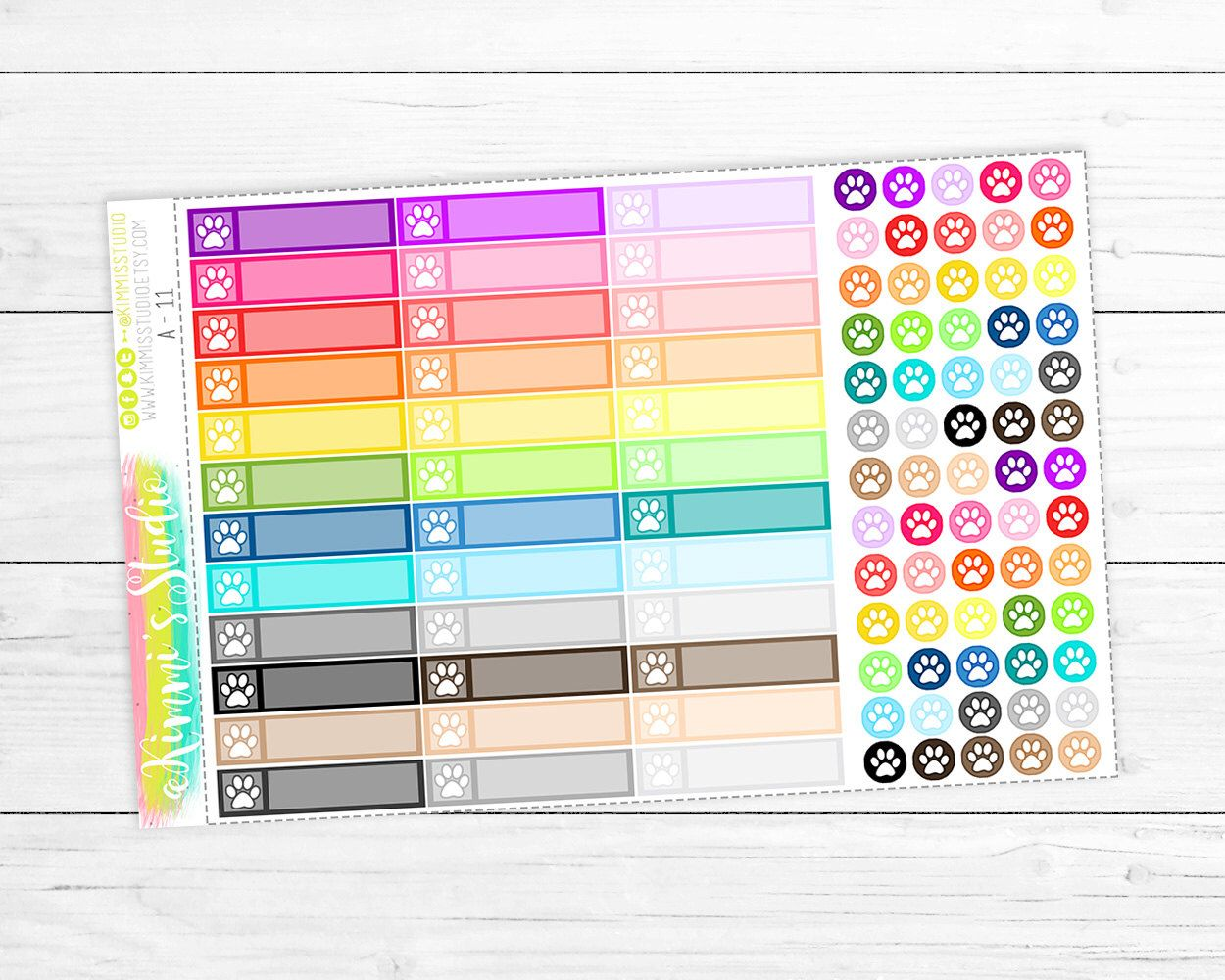 Pet (paw print) Icon Labels and Icon Dots - Perfect for Erin Condren Life Planners! by KimmisStudio on Etsy https://www.etsy.com/listing/285475693/pet-paw-print-icon-labels-and-icon-dots